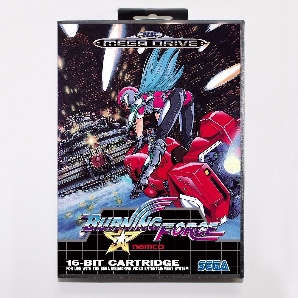 Burning Force Game Cartridge 16 bit MD Game Card With Retail Box For Sega Mega Drive For Genesis