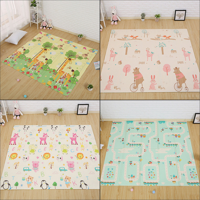 Kids Playing Mats Crawling Rug Blanket Educational Baby Play Developing Mat Children S Floor Carpet In