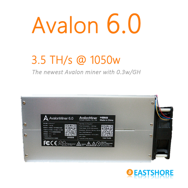 [SOLD OUT] Bitcoin Miner Avalon 6 3.5TH Asic Miner 3500GH Newest Btc Miner Better Than Antminer S5