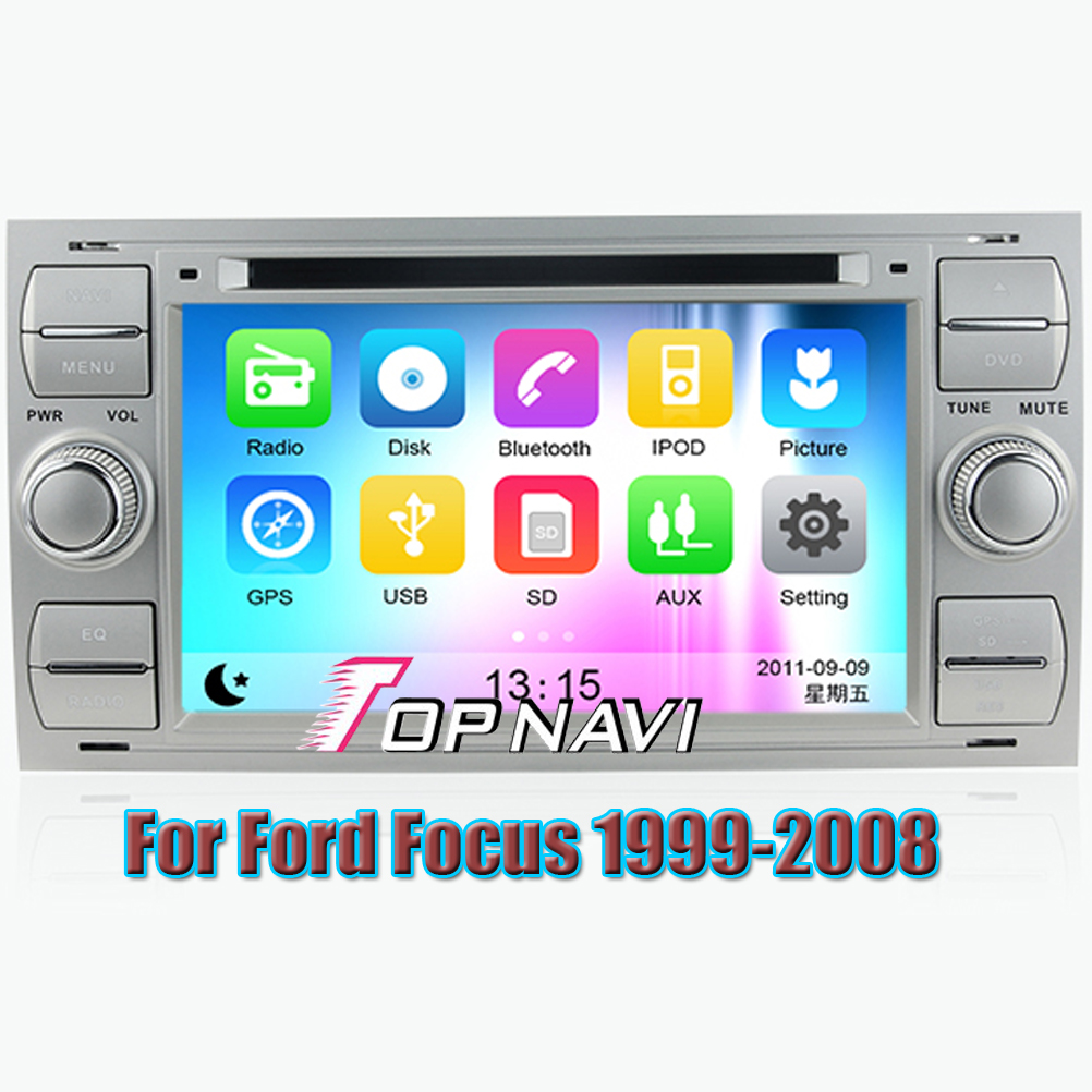 Wince 6 0 car dvd player gps navigation system radio stereo for ford focus 1999 2000 2001