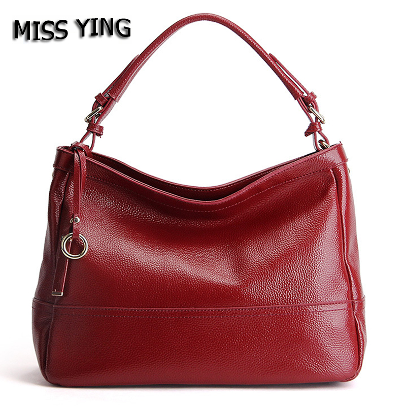 MISS YING Brand Genuine Leather Bag Women Shoulder Bag Female High Quality Cow Leather Fashion Shopping Tote Women Messenger Bag eu us no tax 24v 10ah battery pack lithium 24v 200w e bike li ion 24v lithium bms electric bike battery 24v 10ah 200w motor 2
