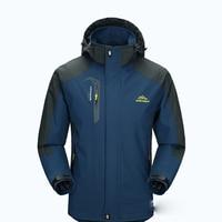 Men's Mountain Hooded Waterproof Ski Jacket Solid Windproof Rain lightweight Softshell Sportswear Snowboard Snow Jacket