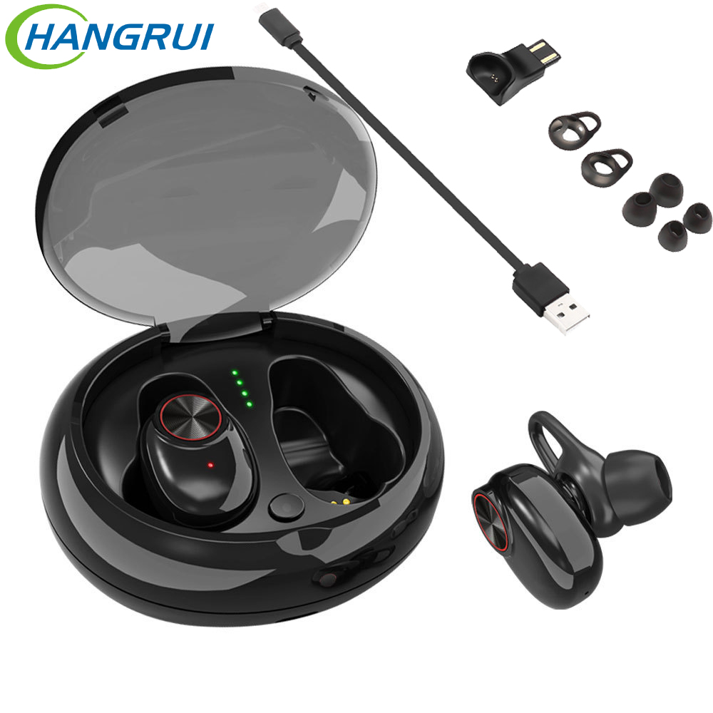 TWS V5 bluetooth headphone earphone cordless with charging box for xiaomi earphones music noise cancelling earpiece for iphone 8