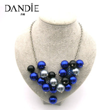 Dandie Trendy Blue  Acrylic Bead Necklace, For A Womans Daily Wear,Fit Party