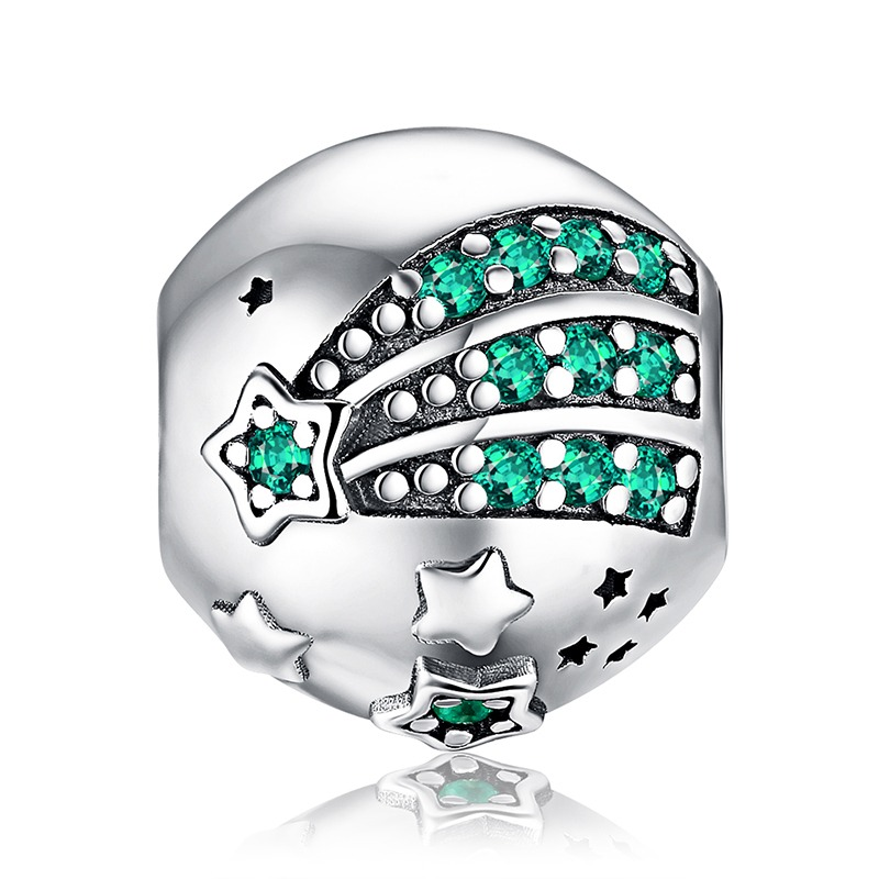 Jewelrypalace Holiday Time Christmas Tree Green 0.9ct Cubic Zirconia 925 Sterling Silver Charm Beads For Women 2018 New Hot Sale Fine Jewelry Jewelry & Accessories