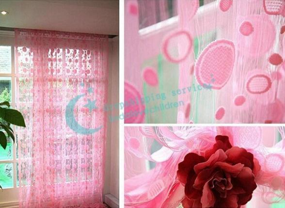 New Fashion Romantic Circle Jacquard Encryption Living Room Wedding ...