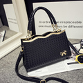 FREE SHIPPING Metal Frame Womens Handbag Bow Shoulder Bag Knitting Messenger Bag