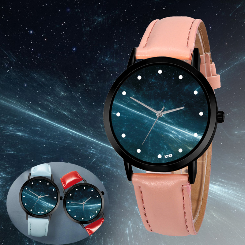 Unique Solar System Watch Astronomy Space Planets Unisex Classy Casual Quartz Leather Strap Analog Watches Montre Femme