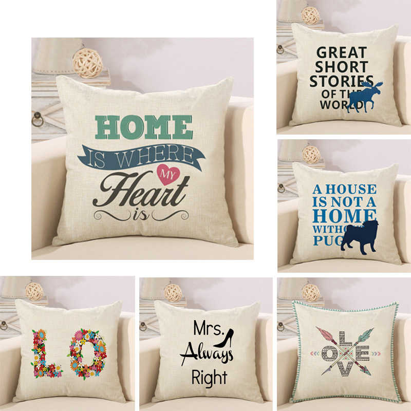 alphabet animal flower high heels letter cushion cover