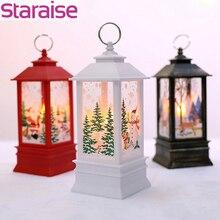 Staraise 1pc Christmas Decor  LED Tea Light Copper Santa Snowman Dear For Home Ornament Tree