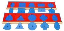 Купить с кэшбэком New Montessori Baby Toys Geometric Panel Baby Educational Toys Baby Gifts