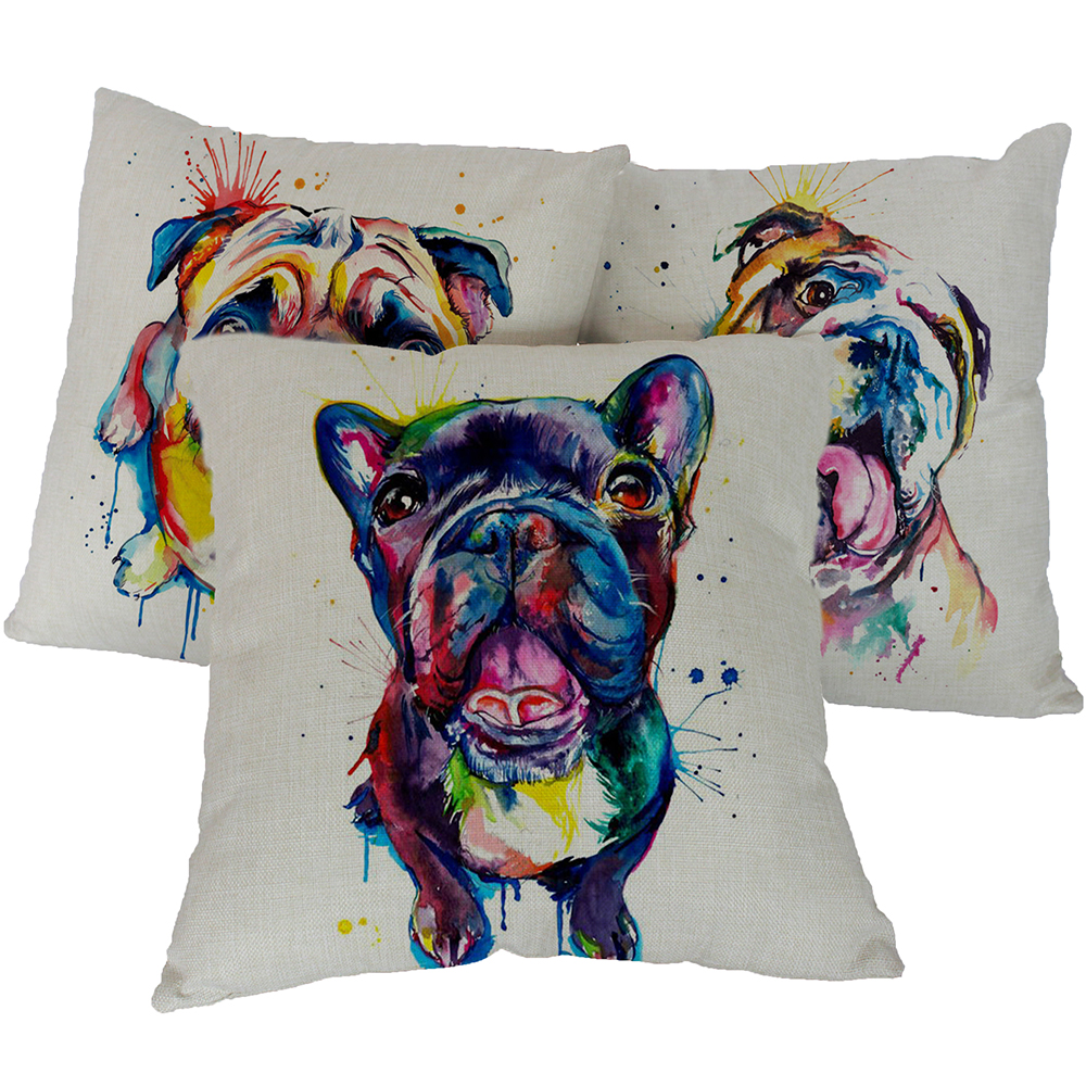 French Bulldog Printed Sofa