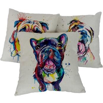 French Bulldog Printed Sofa