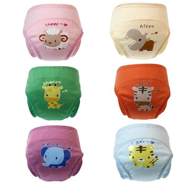 New 4 Layers Baby Training Pants Child Cloth Diaper Study Pants Three Dimensional Leakage Prevention Free Shipping ZY05