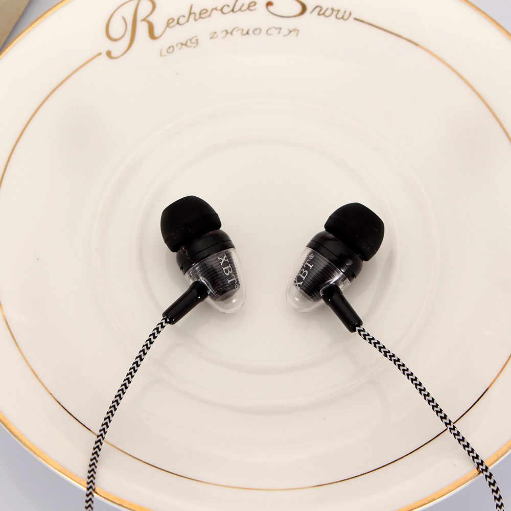 Uniwersalny 3.5mm douszne słuchawki Stereo słuchawki dla telefonów komórkowych słuchawka do telefonu