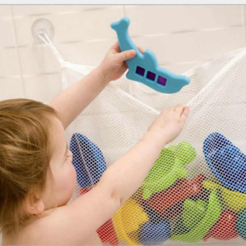 Креативный складной экологичный 35X35 см детский сетчатый мешок для ванной комнаты детский мешок для хранения игрушек для ванной мешок Органайзер сетки корзины на присосках
