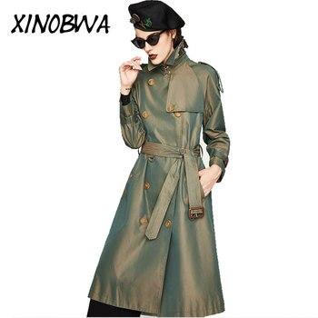 New 2018 Autumn Fashion Women's Waterproof Cotton Long Classic Belt The Kensington Heritage Trench Kol Saati Gloria Clothes Aize