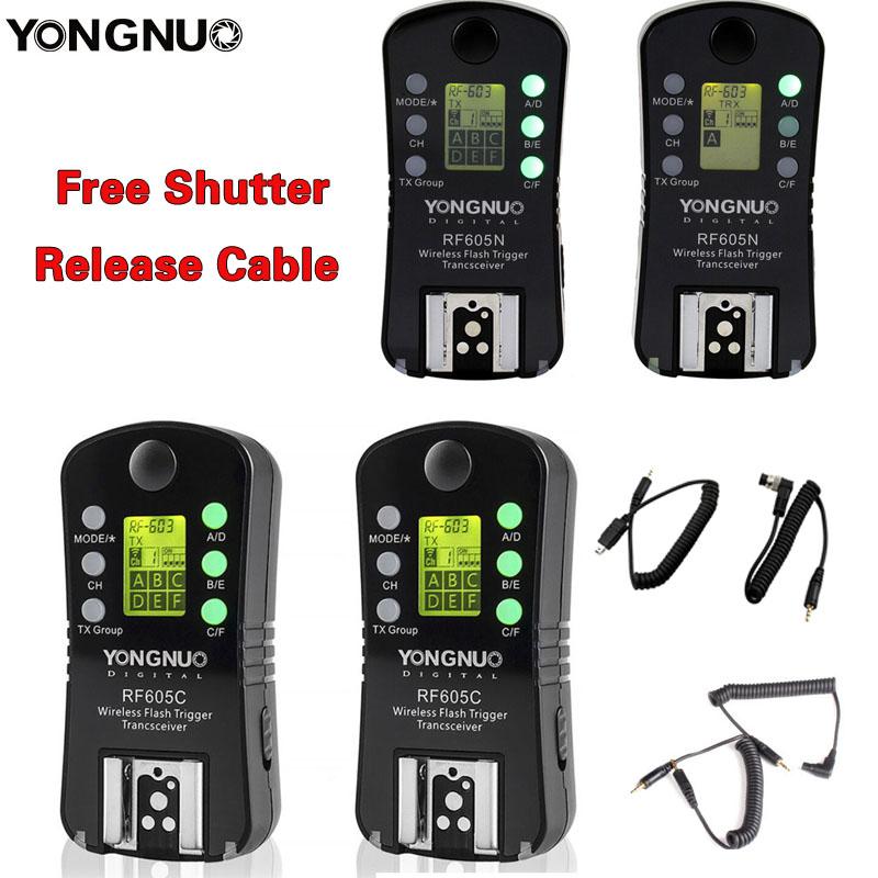 Prix pour Yongnuo rf-605 rf605 sans fil déclencheur flash avec lcd pour nikon canon compatible rf603ii yn560iv yn685 yn660 yn560iii