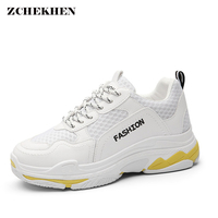 2018 Pairs Outdoor Street Fashion Casual Dad Sneakers Women Mesh Breathable Trainers Shoes Walking Driving Shoes