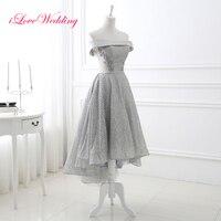 New Arrival Light Grey Prom Dresses Strapless Ankle Length Party Dress Bandage Vestido De Festa For