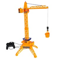 FARFEJI Remote Control Tower Crane Toys For Children Electric Construction Rc Car Toy Model Diecast Tower Crane