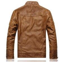 Motorcycle Leather Jacket Men chaqueta Jaqueta Couro Masculino Bomber Leather Jackets Coat jaqueta de couro masculina