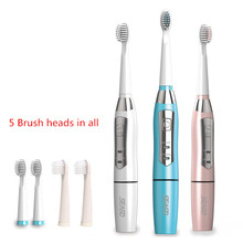 5 brush heads Sonic Electric Toothbrush Oral Hygiene Intelligent tooth brush Battery operation ABS/TBE Washable Seago 610