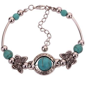 Bracelet Argent Turquoise Indien