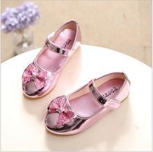 2017 новых детских shoes девушки Принцесса shoes лук алмаз моды новорожденных девочек shoes dance shoes размер 21-36