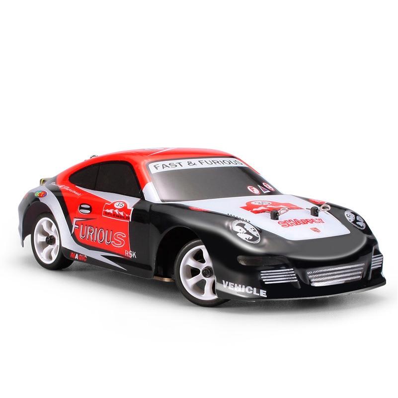 1/28 Радиоуправляемая машина, высокоскоростная гоночная машинка с дистанционным управлением K969, игрушки с дистанционным управлением на откр... - 1