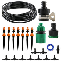 15M Garden Irrigation System Automatic Drip And Micro Sprinkler Kit Patio Yard Plant Vegetabel Berry Landscape