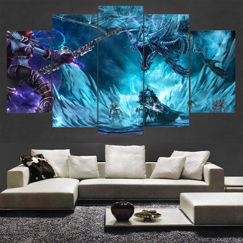 hd impresiones juego warcraft paisaje poster pared modular imagen pinturas de la lona para la sala