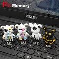 Pen drive мрачные медведь USB flash drive100 % реальная емкость pen drive мультфильм usb stick 16 г/8 г/4 г флэш-памяти memory stick флэш-карты