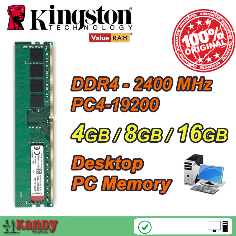 Kingston KVR24N17S8 desktop PC memory ram DDR4 4GB 8GB 16GB 2400 MHz PC4 19200 Non ECC 288 Pin DIMM memoria computer computador