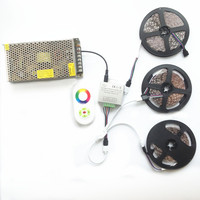 New Decorate 15M 10M 20M RGB Led Strips 5050 60Leds/M christmas Light Non Waterproof Tape+18A Touch RF Dimmer Remote Controller