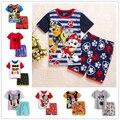Ropa de verano para niños sets boy t-shirt + pants suit set de ropa recién nacido Ropa trajes del deporte del bebé ropa de niño los niños ropa de los muchachos
