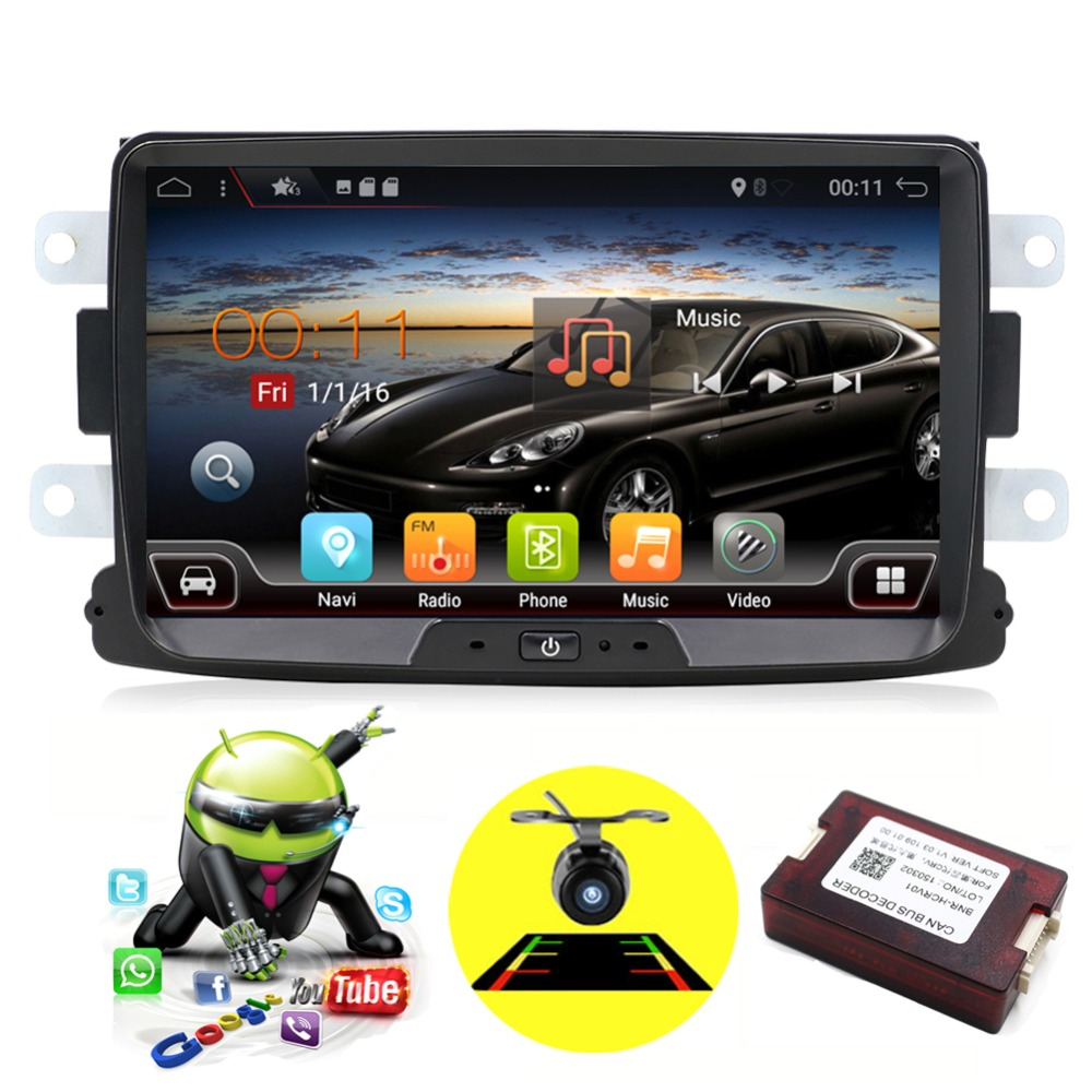 Quad Core Android 7.1 2 din car radio cassette player For Renault Duster with GPS,WIFI,Map,Canbus Support Steering Wheel Control цена в Москве и Питере