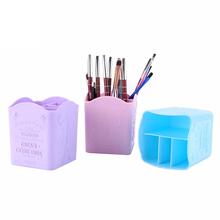 4 Gird Makeup Organizer Storage Box Cosmetic Brush Pen Manicure Tools Desktop European Print Stationery Case Container Holder