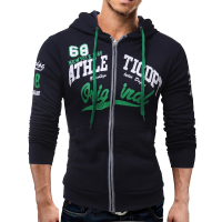2017 Hoodies Men Sudaderas Hombre Hip Hop Mens Brand Letter Hooded Zipper Hoodie Sweatshirt Slim Fit