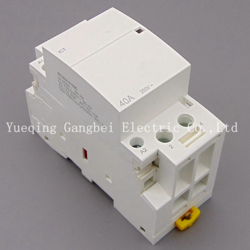 iCT 2P 40A 220V/230V 50/60HZ Din rail Household ac contactor 2NO автомагнитола swat mex 1008ubw