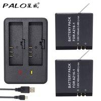PALO 2pcs 1400mah Original For Xiaomi YI Lite YI 2 4Kplus 4k AZ16 1 Battery USB