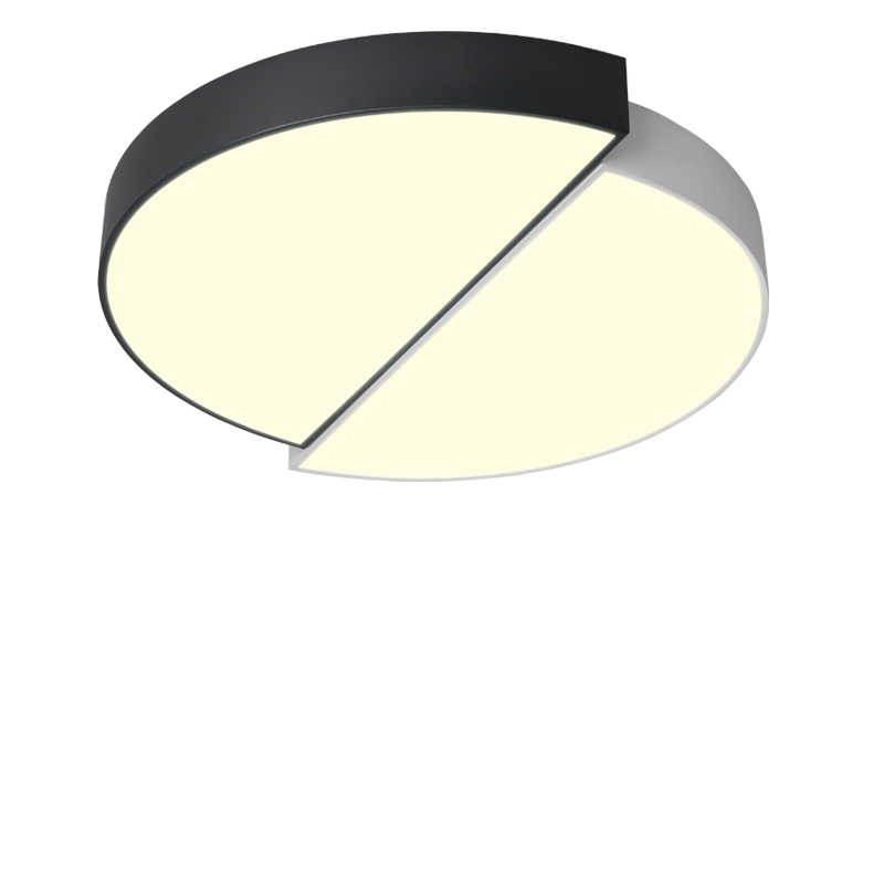 Minimalist modern Nordic creative slim design round living room small bedroom channel LED ceiling light black and white noosion modern led ceiling lamp for bedroom room black and white color with crystal plafon techo iluminacion lustre de plafond