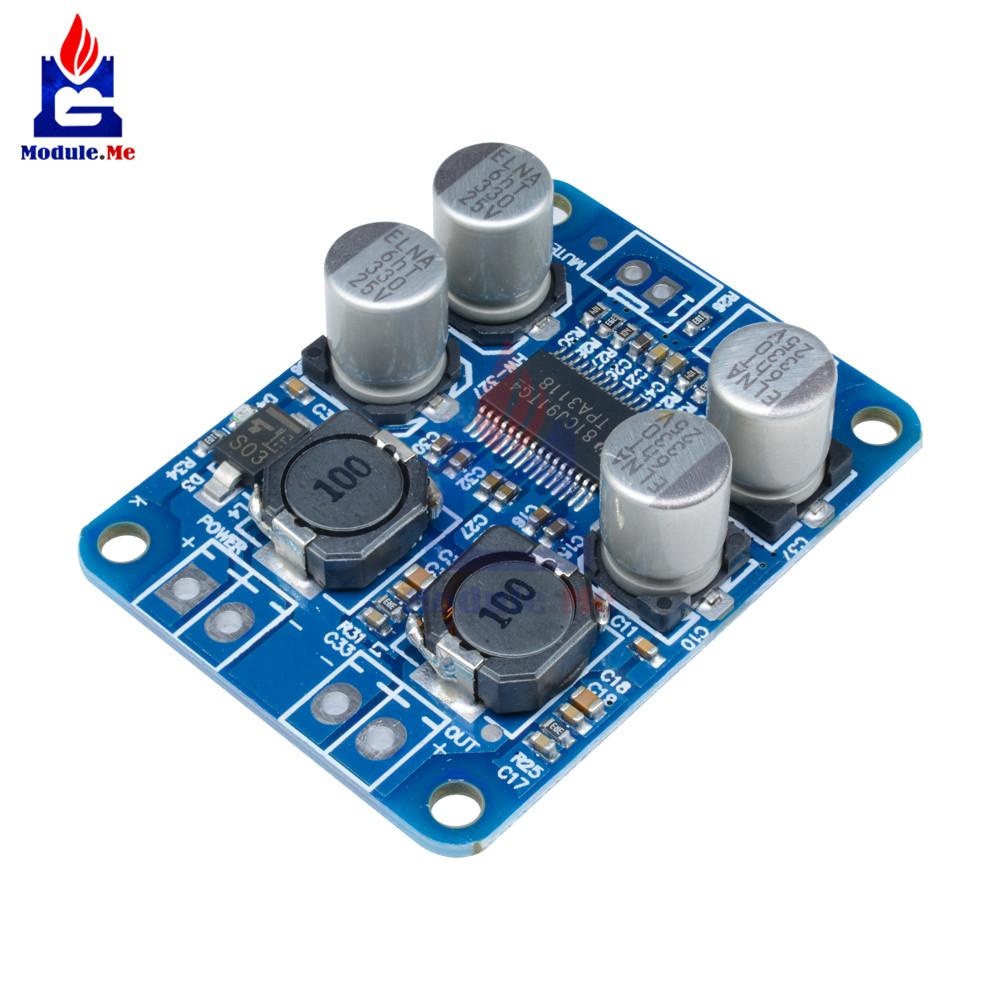 Tpa3116d2 Digital Subwoofer Amplifier Board Dc12v 24v 2x50w 100w Xh Simple Led Power Indicator Light Circuit Diyaudio Tpa3118 Pbtl Mono Audio 60w 12v Amp Module Car High