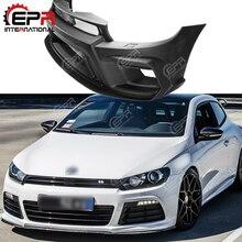 Для Scirocco R AS Стиль FRP стекловолокно передний бампер для автомобильного стайлинга авто наборы кузова для Scirocco R AS стиль