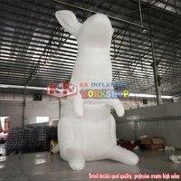 Надувные светодиодный Гигантский Рекламный красочные кролик заяц освещения белый кролик