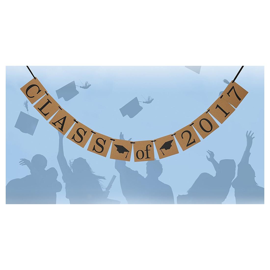 Class of 2017 Banner - Graduation Sign Photo Props - Graduate Party Decorations , High School Graduation, College Grad Decor