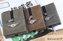 Gros livraison gratuite toile tissu hommes portefeuilles porte – monnaie poche à fermeture éclair décoration sac de qualité de la marque porte – cartes pour hommes