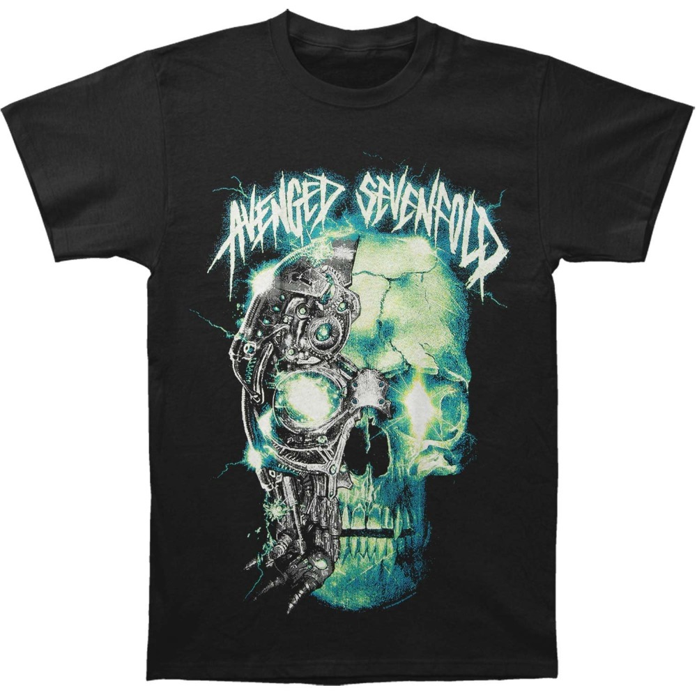 New Funny Brand Clothing MenS Crew Neck Short Short Avenged Sevenfold MenS Avs Turbo Skull T Shirts