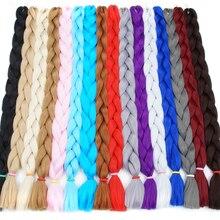 Продукція для волосся для волосся Bling 82inch Kanekalon Braiding Extensions 170g / Pack Synthetic Jumbo Braids Crochet Hair