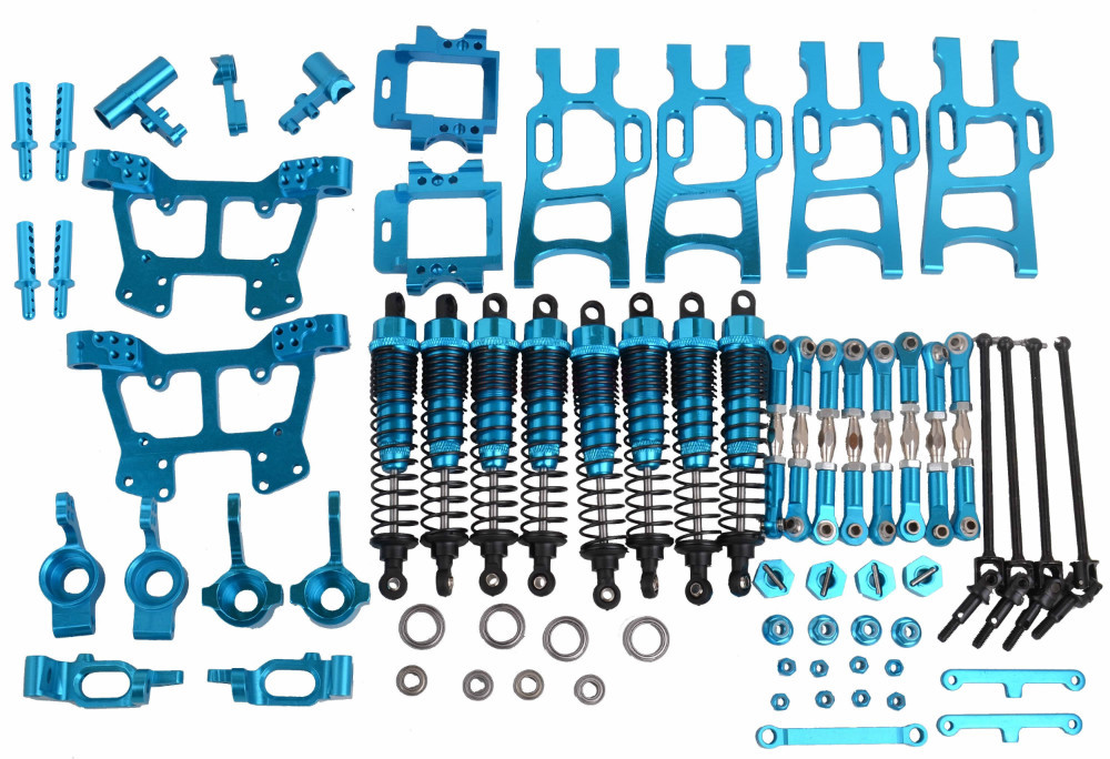 Upgrade Parts Blue For HSP RC 1:10 Electric / Nitro Monster Bigfeet Truck 94108, 94110, 94111 rc car parts toys 166011 166004 82910 ricambi x hsp 1 16 282072 alum body post hold himoto 1 16 scale models upgrade parts rc remote control car accessories